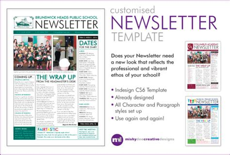 indesign newsletter template free customise a newsletter template in indesign