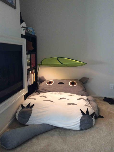 Totoro Futon totoro futon is whimsical and kinda slightly terrifying dorkly post
