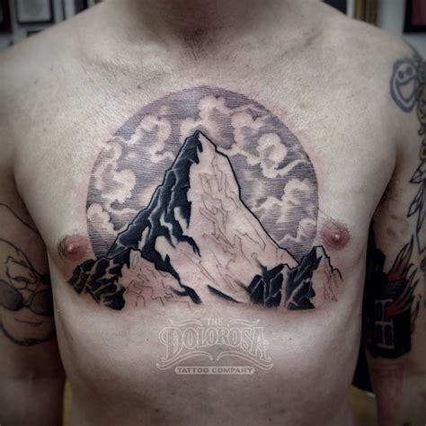 chest mountain tattoo best tattoo ideas gallery