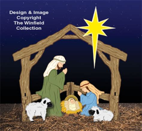 winfield woodworking patterns nativities colorful small silent nativity