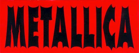 Sticker Stiker Metallica metallica name sticker