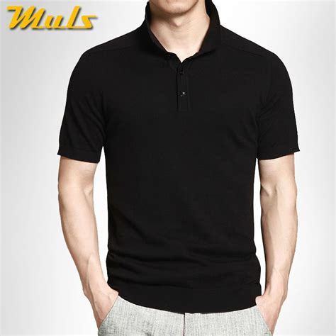 Basic Sweater Polos 2 8 colors muls brand summer mens polo sweaters simple style cotton knitted sleeve pullovers