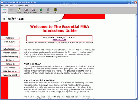 Mba Guide by The Essential Mba Admissions Guide