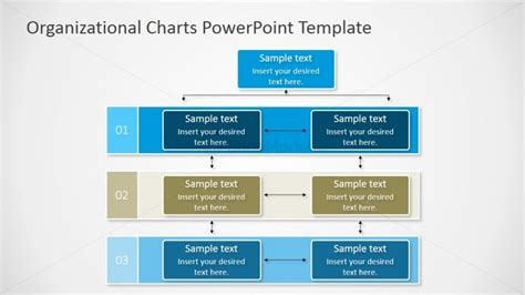 Matrixed Organizational Chart For Powerpoint Slidemodel Org Chart Power Point