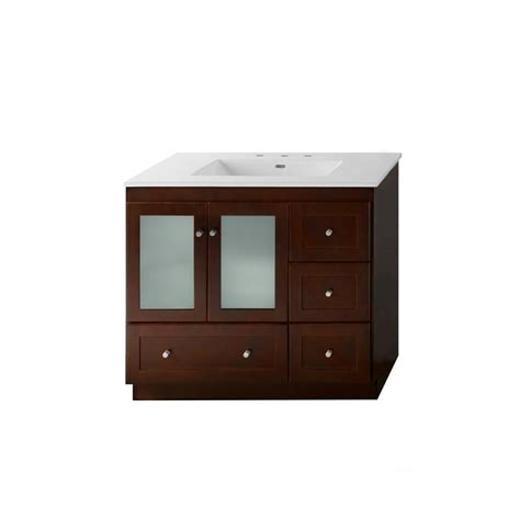 Ronbow Vanity Top by Ronbow Essentials Shaker 36 In W Vanity In Cherry
