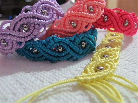 Easy Macrame Bracelet Patterns - micro macrame eternal wave bracelet tutorial easy to follow