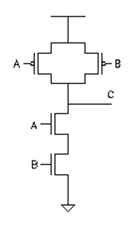 transistor level or gate layout design basic stick diagrams
