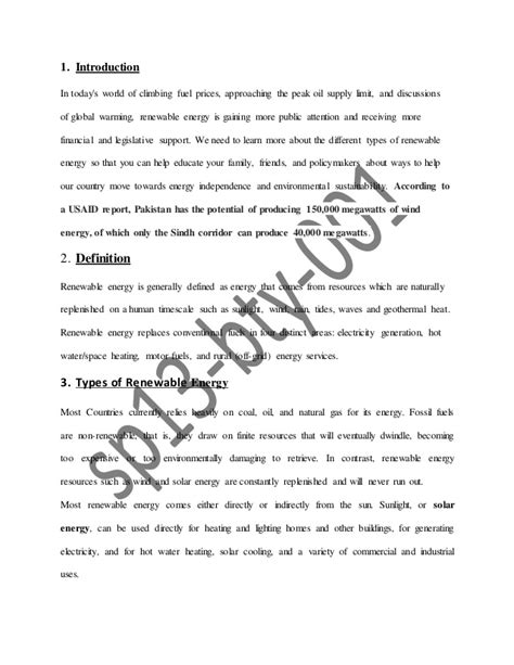 what are sources in a research paper alternative energy sources research paper