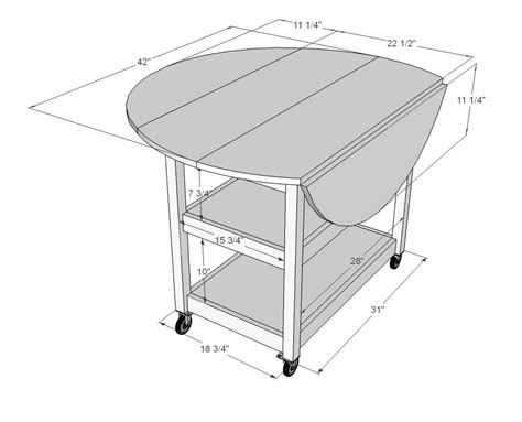 Drop Leaf Table Plans White Drop Leaf Storage Table Diy Projects
