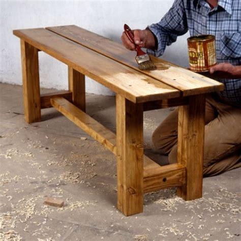 banc bois massif fabriquer un banc en bois massif