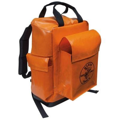 klein tools 18 in lineman backpack orange 5185ora the