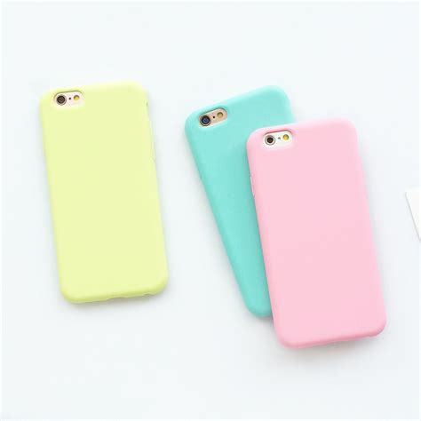 Softcase For Iphone 55s macarons color tpu silicone frosted matte for iphone 6 6s plus 6plus soft back cover for