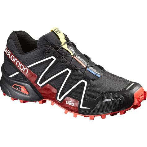 mens trail running shoes salomon spikecross 3 cs trail running shoe s