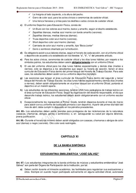Estudiantes En Falditas | reglamento interno para estudiantes 2015