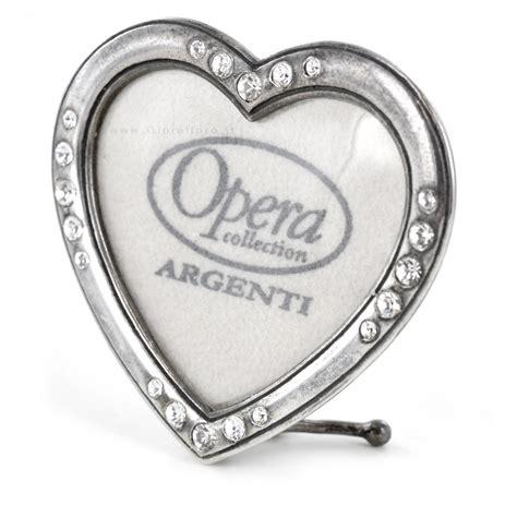 cornici cuore mini cornice cuore in argento con strass opera