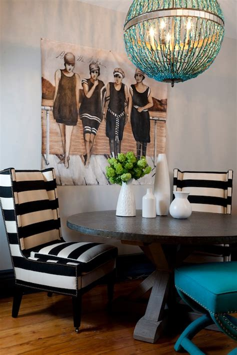 eclectic dining room chairs mix of chairs in the dining black and white striped chairs eclectic dining room