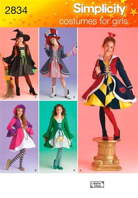 sewing pattern queen of hearts simplicity 2834 sewing pattern girls costume queen of