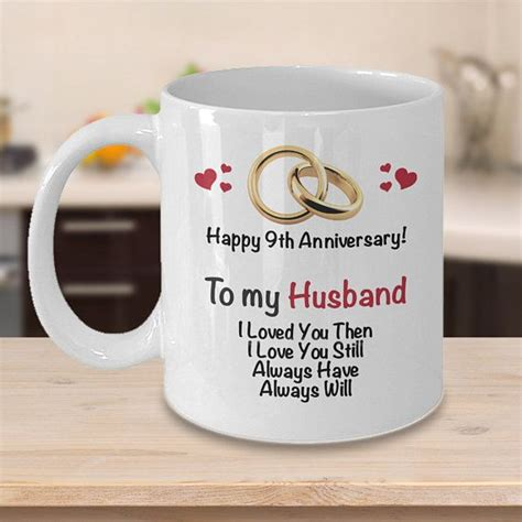 9th anniversary gift ideas for husband 9th wedding anniversary gift married 9 years coffee
