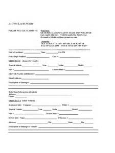 Insurance Claim Form Template by Car Insurance Claim Form 2 Free Templates In Pdf Word