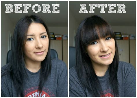 how to style your bangs or fringe to hide it as you grow how to cut your own full fringe bangs youtube