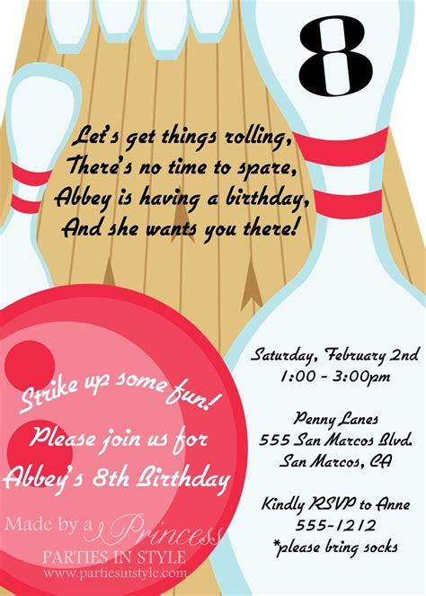 printable birthday invitations bowling bowling birthday party printable invitation diy pink