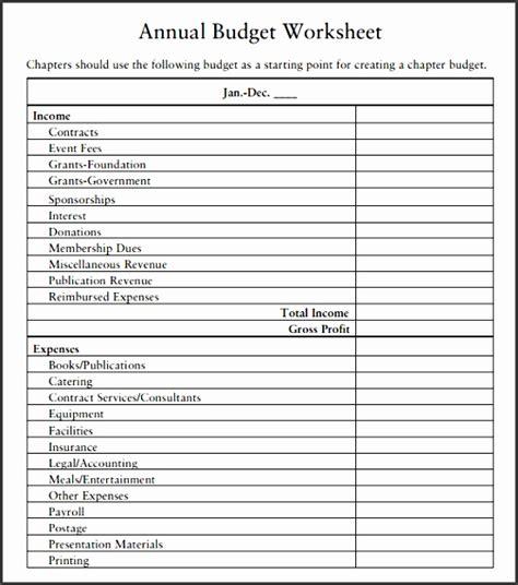 9 Excel Budget Worksheet Template Sletemplatess Sletemplatess Personal Annual Budget Template