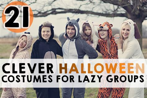 Simple Halloween Costumes For Group