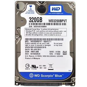 Hardisk Wd Scorpio Blue 320gb evertek wholesale computer parts western digital scorpio