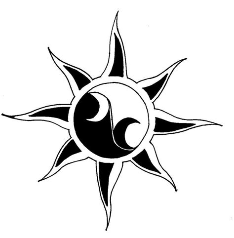 cool star tattoo designs cool sun moon drawings clipart best