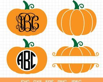 monogram pumpkin templates pumpkin svg etsy