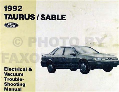 1992 ford taurus mercury sable repair shop manual original