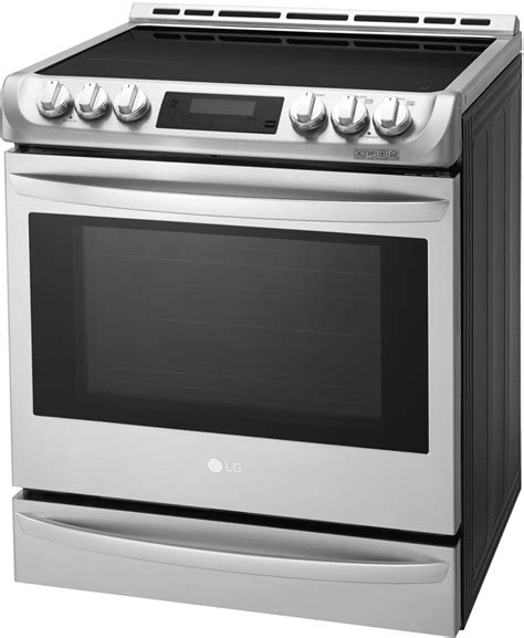 lg induction cooking lg lse4617st 30 inch slide in induction range with 6 3 cu ft capacity 5 cooktop zones