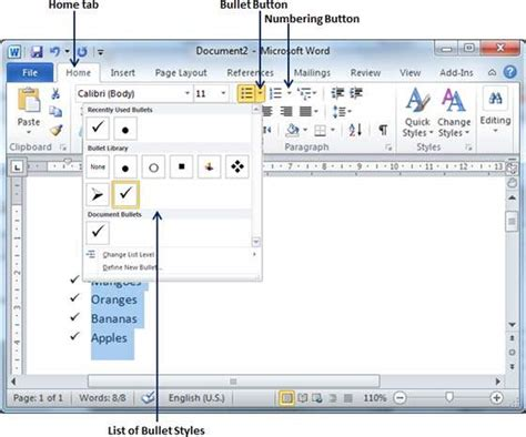 tutorialspoint ms word related keywords suggestions for microsoft bullets