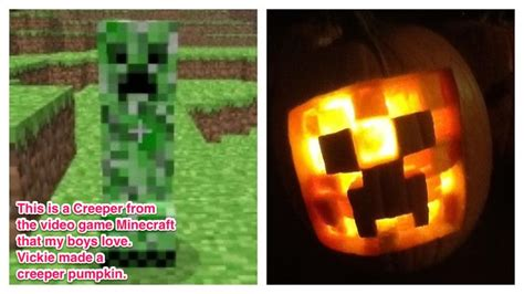 minecraft creeper pumpkin carving minecraft pinterest