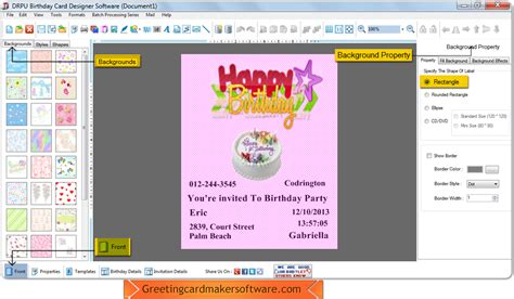 Birthday Card Maker Birthday Card Maker Software Create Kids Mom Dad Birthday