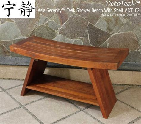 bath bench wood decoteak extended double teak wood asia shower bench
