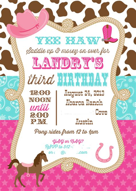 landry s cowgirl 3rd birthday party there s no i in clare