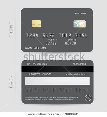 debit card template for schools vectorshiny credit debit card design stock vector