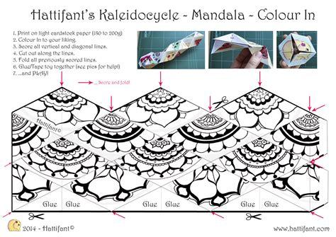 endless card template pdf hattifant s kaleidocycle hattifant