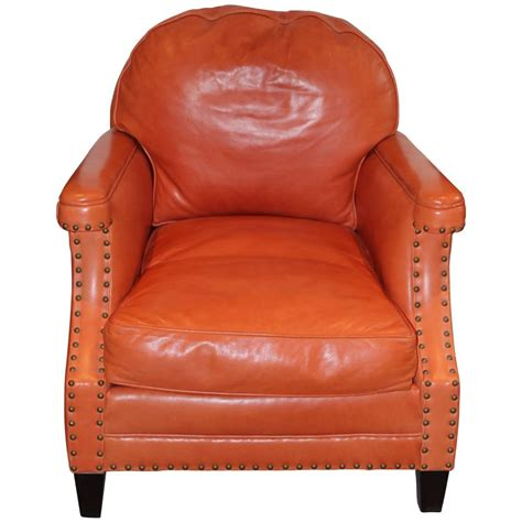 Leather Nailhead by Leather And Nailhead Club Chair At 1stdibs