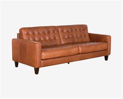 dania leather sofa dania the gustav sofa features a button tufted design