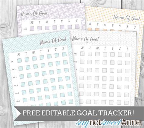 free printable goal planner 2015 free editable printable goal tracker sweet anne designs