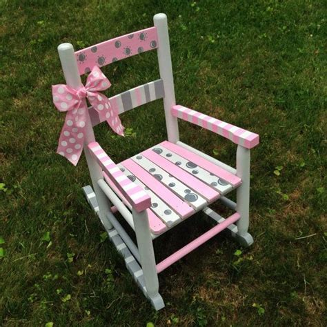 hand painted rocking chair nursery decor childrens decor kids rocker baby shower gift