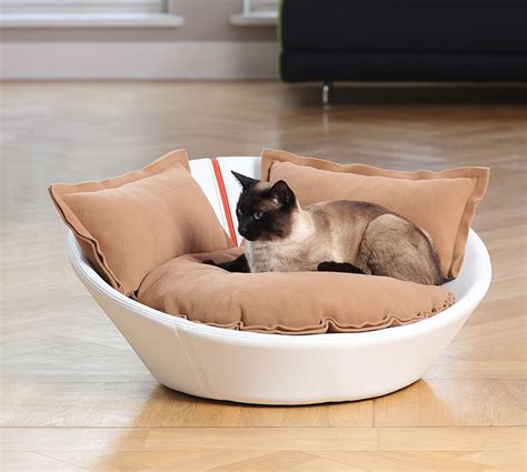luxury leather mila cat bed chelsea cats
