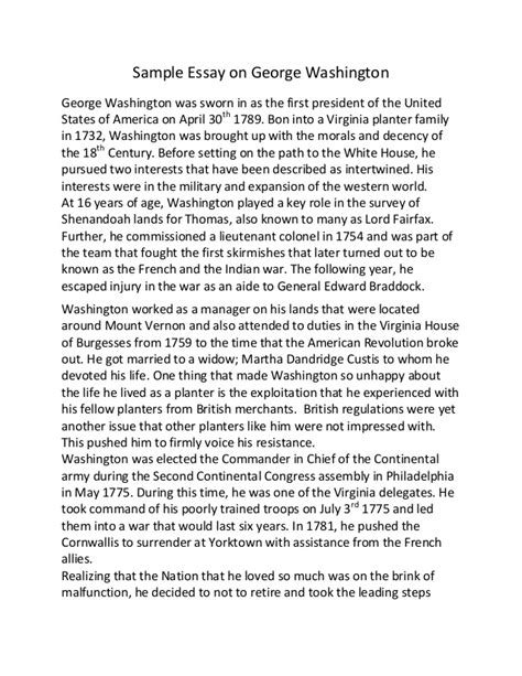 George Washington Biography Essay by George Washington Carver Essays Presentationbackgrounds Web Fc2