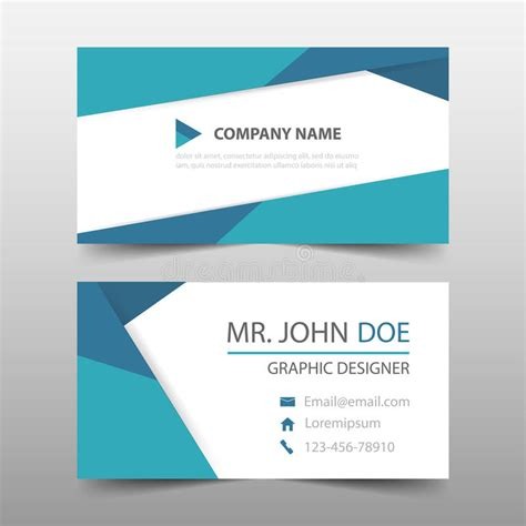 simple name card template blue triangle corporate business card name card template