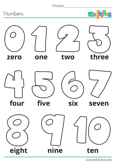 Números en Ingles para Niños
