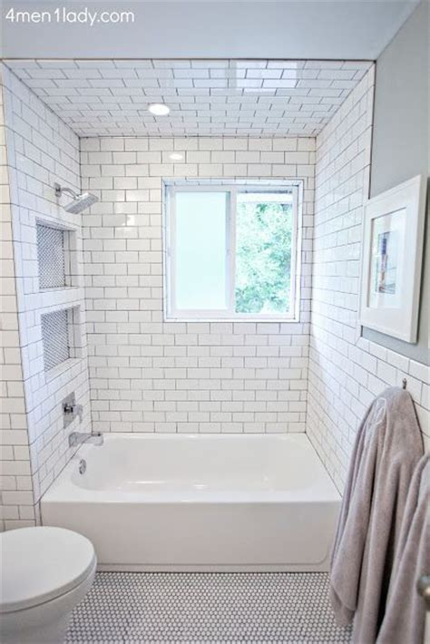 subway tile shower niches bathrooms