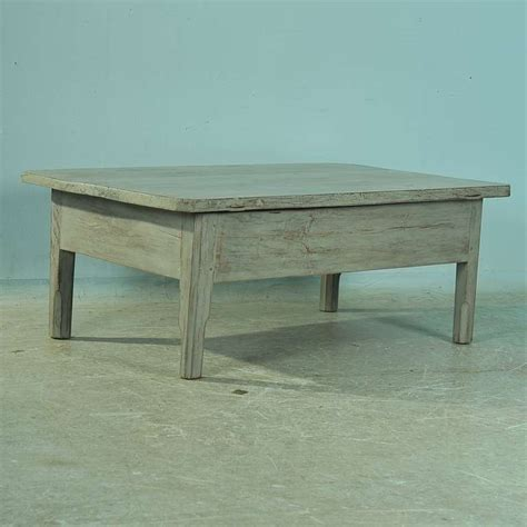 antique painted pine coffee table with single drawer