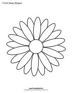 free printable daisy templates daisy shape flower pdfs